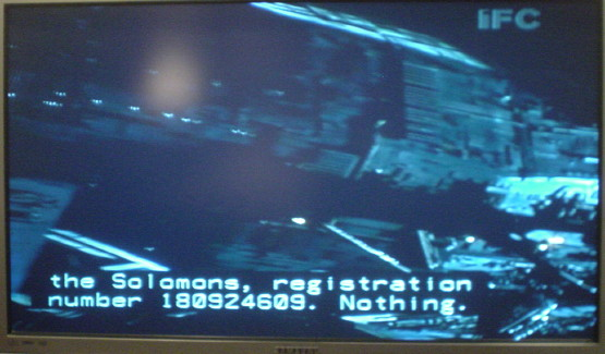 'Alien' scrollup captioning