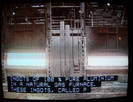 Caption: INGOTS OF 100% PURE ALUMINIUM