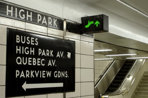 inscribed in the living tile  type in the toronto subway